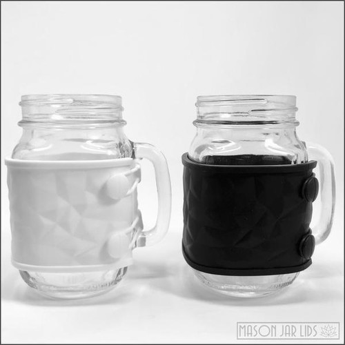 Is This the Most Gorgeous Thing You Can Put Around a Mason Jar? Great for Those Who Enjoy Sipping Hot Beverages From There Jars :) BPA Free and Oh So Glam! Dishwasher Safe Includes: 1 silicone wrap