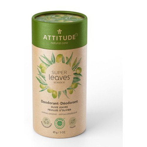 ATTITUDE's plastic free, all natural, aluminum-free deodorant uses an innovative biodegradable all-paper packaging designed to reduce single-use plastic.