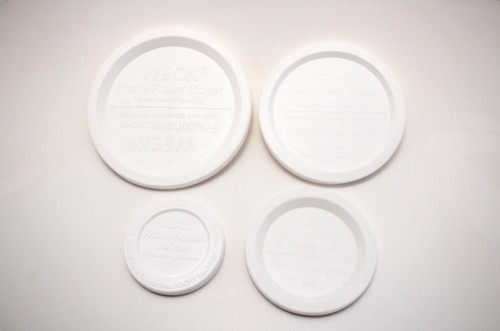Designed for WECK jars. Keeps freshness in the fridge or freezer. The airtight lids are made with BPA free plastic.