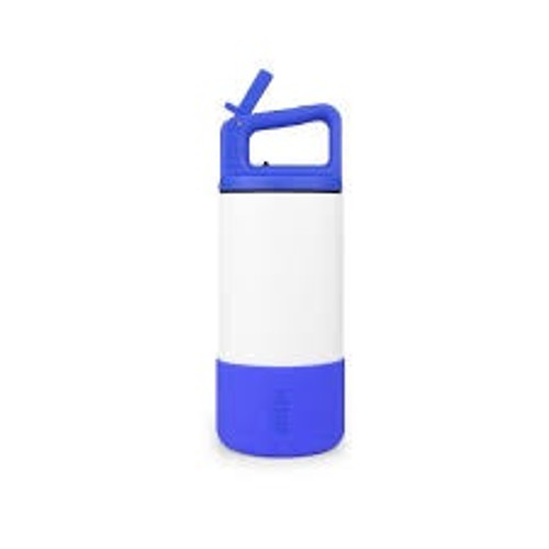 The playground is calling and the kids must go! From the classroom to the soccer field to the wild outdoors, keep every age of your circus hydrated and happy with the standout MiiR Kids Bottle. Available in two bright colors, featuring our simple sip Straw Lid with matching fitted Silicone Boot for added protection. Parent-approved design elements include a leak-resistant lid, minimal pieces for easy cleaning and cup holder compatibility. The best part? Modeling for your little one what it means to purchase with purpose. Suitable for ages 3+.