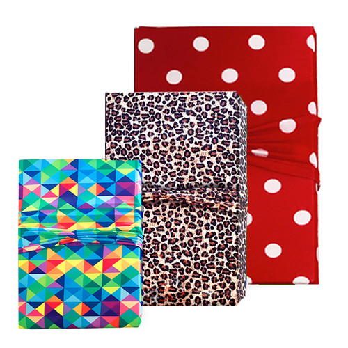 Fashionable. Stretchable. Reusable. Wrapeez is the modern solution to gift wrap. No Tape, No Scissors, No Mess! Quick & easy!