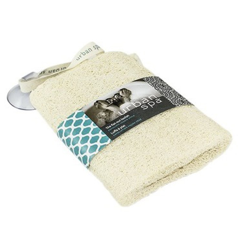 The natural loofah in the raw body scrubber gently exfoliates and renews your skin