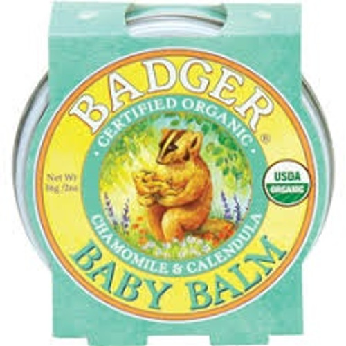 Care for your baby's delicate skin with 100% natural, safe and soothing Badger Baby Balm. Formulated with moisturizing oils and calming herbs to nurture and protect sensitive skin. Organic Extra Virgin Olive Oil gently softens and moisturizes even the most delicate skin. The mild scent of true Roman Chamomile calms, while gentle Calendula soothes and protects. Here at Badger, we take baby care seriously and formulated these products using only the safest & purest ingredients.