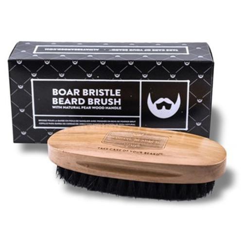 Mens beard brush made from boar hair bristles.