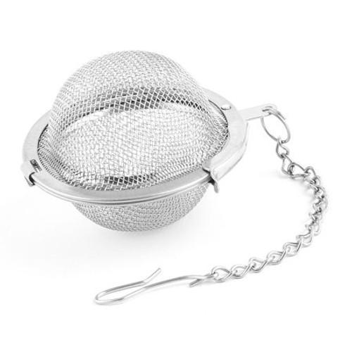 Stainless Steel mesh tea ball. Dishwasher safe.
