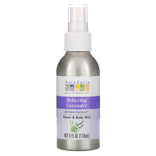 Aura Cacia Lavender Room and Body Mist - 4 oz