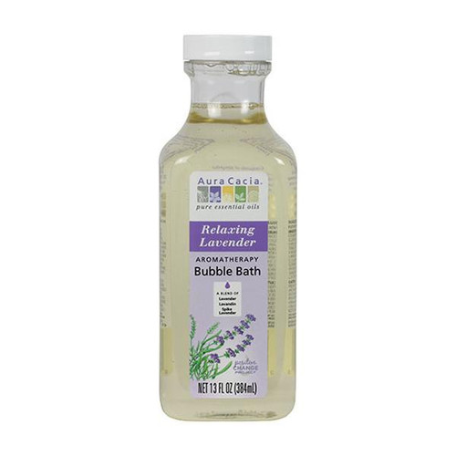 Sink deep into a sudsy, soothing bath experience with Aura Cacia Relaxing Lavender Bubble Bath. This blend is expertly crafted to bring the benefits of essential oils to your routine, cleansing and calming your mind, body and space.
