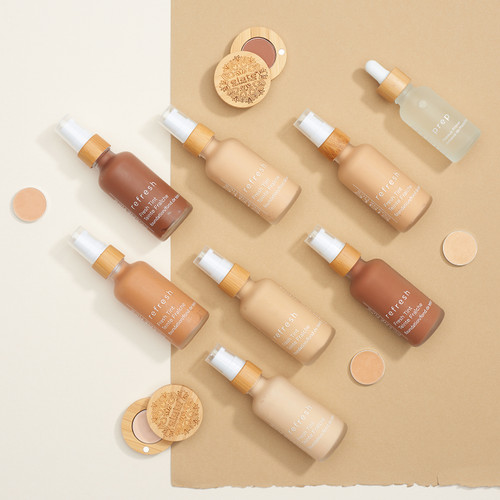 Enhance your natural beauty with our lightweight and hydrating foundations that give your face a healthy, radiant glow.