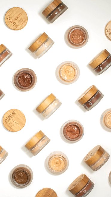 Elate- Embrace your natural beauty with Uplift Foundation's creamy and weightless texture, buildable application and semi-matte finish while allowing your natural skin to feel supported and enriched. This vegan, cruelty-free, ethical and sustainable foundation comes in a reusable and recyclable jar with compostable bamboo lid. Foundation, ethical beauty, clean beauty