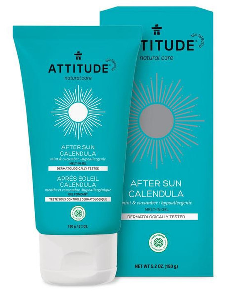 Our after-sun gel, recognized as Top After-sun by EWG, goes on smooth and helps to soothe irritated skin, relieving tightness and leaving it silky soft and hydrated after fun in the sun.
