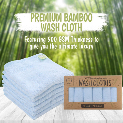 """Ultra Soft & Thick - Feel the ultra softness of the bamboo and you'll love the material instantly, made with premium quality (500GSM) bamboo, and a generous size of 10"""" by 10"""", our quality is way superior than regular cotton and muslin washcloths.  Luxury On Skin - Organic Bamboo is the best and softest material to use on babys skin without causing irritation. Premium bamboo washcloths are best for babies with sensitive skin and cradle cap.  Highly Absorbent - Our wash towels are exquisitely made to be thicker than usual wash cloths which enables it to work up a good lather during bath time, the wash towel can even be used to clean serious mess like spills or vomit.  All-In-One Multiple Uses - KeaBabies washcloth can be used as a bath cloth, burp cloth, diaper changing, and for other daily activities too. Suitable for both babies and adults, it can also be used for facial cleansing, make up removal, hand towels and so on. Making it a must have diaper bag accessory even for travelling."""