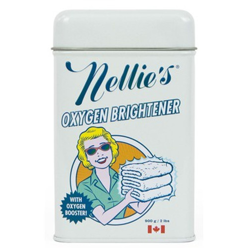 Nellie's All-Natural Oxygen Brightener gives regular laundry detergents a serious boost with extra cleaning, deodorizing, and color protection properties. The one thing it doesn't noticeably do? Whiten your whites.