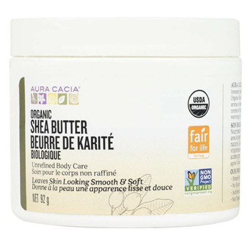 Aura Cacia Organic Shea Butter can intensely nourish and moisturize your skin It is unrefined, with a natural aroma, to maintain its vitamins, antioxidants, and high content of fatty acids. Use for all your body care needs.