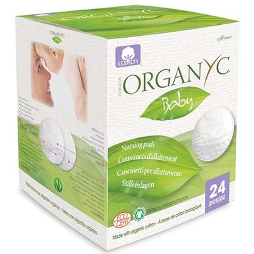 What could be more soft and gentle than 100% organic cotton? Naturally absorbent, which is easy to appreciate during breast feeding. They're breathable and amazingly comfortable. They're hypo-allergenic, made with a leak proof layer and each contains an adhesive stripe to help keep pad in place.