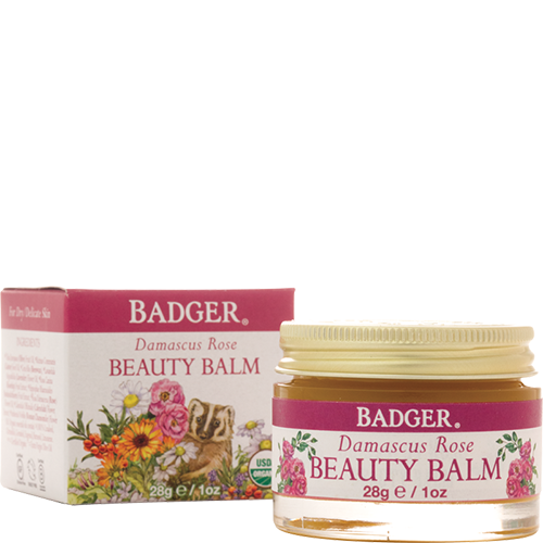 Honor and renew your beautiful skin! Damascus Rose Beauty Balm is a nourishing treatment for face, neck, and under eye area. Great for hands, too! Formulated with certified organic Beeswax and antioxidant-rich oils, this super-emollient and easily absorbed beauty balm keeps skin soft, smooth, and happy. Featuring precious oil of Damascus Rose.