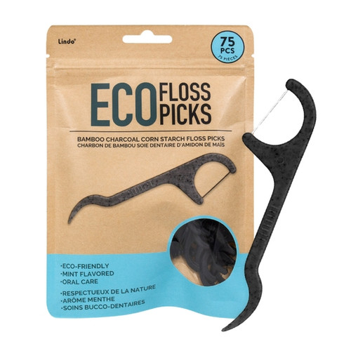Dentists recommend flossing once a day to help prevent bad breath and gum disease. Whether it's at home or on the go, our Lindo Eco Floss Picks are an effective and eco-friendly solution that help remove any unwanted food between teeth.