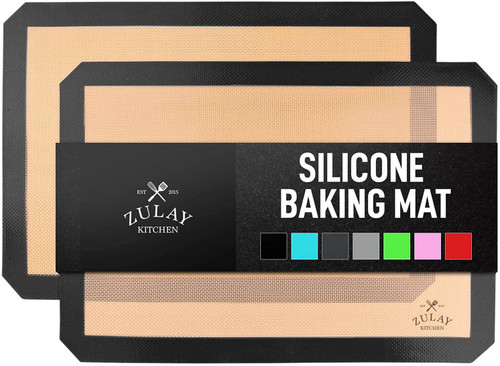 THE ULTIMATE BAKING CONVENIENCE These 2pcs of flexible food grade silicone non-stick baking mats are half-sized made for a 13 inch x 18 inch pan. Perfect alternative for other baking materials such as parchment paper, aluminum foil, and non-stick sprays. Features a nonstick surface that allows for effortless food removal with no plastic aftertaste, and does an amazing job at baking evenly without burning.