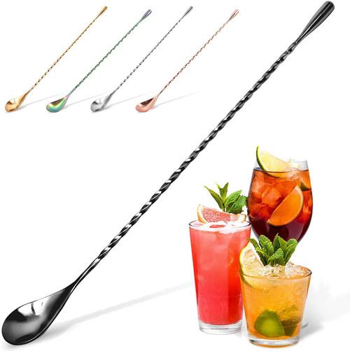 Zulay Kitchen Premium 12 in Stainless Steel Cocktail Spoon