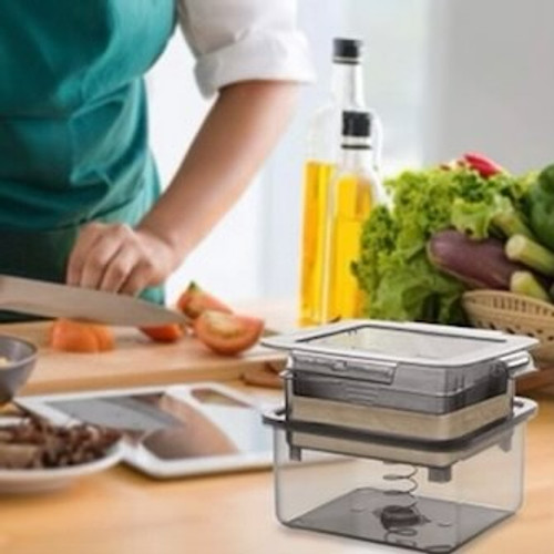 Transform your tofu with this unique and stylish tofu press.