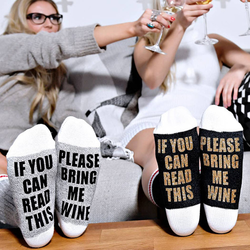 Our funny lumberjack socks are made using high quality materials that will last for years. With the words placed on the bottom of these socks, they are perfect for putting your feet up and creating a good laugh.