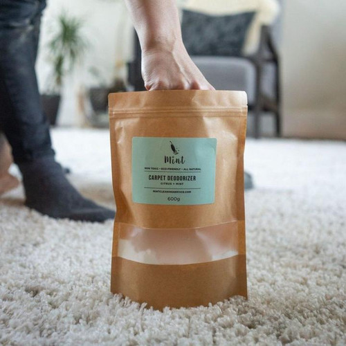 Great for eliminating odours on carpets, couches, mattresses, sinks, garbage bins etc. Infused with mint and citrus essential oils.