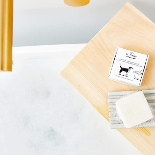 This dog shampoo bar is pH balanced to be gentle on your pooch' s delicate skin. It's also filled with wholesome ingredients like babassu oil and hemp oil with antioxidant, anti-inflammatory, and antibacterial properties to boost dog's immune system. It nourishes and hydrates your dog's coat all the way to a fresh smooth shine.  Fragrance and dye free, paraben free.