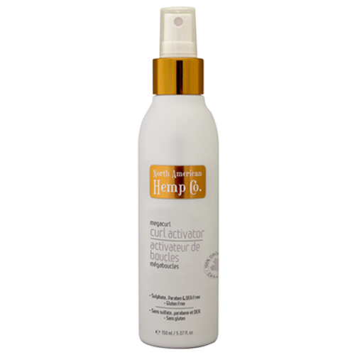 North American Hemp Co. Curl Activator & Reactivator spray is the perfect potion to revive your curl. Its pro-vitamin B5 and hemp seed oil formula enhances your curl for perfect ringlets and glossy shine.