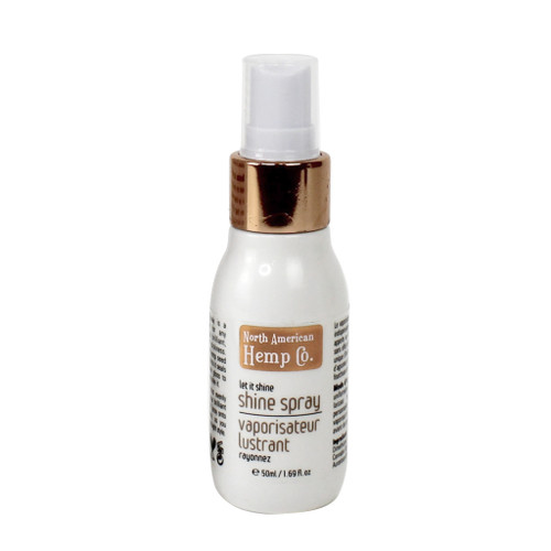 """Let it Shine, shine spray is the """"must-have"""" additive for any hairstyle, bringing you brilliant shine without stickiness. With a unique blend of hemp seed oil, citrus, ginger extracts and nano shine agents, it seals dull split ends and adds sheer gloss however you style your hair."""