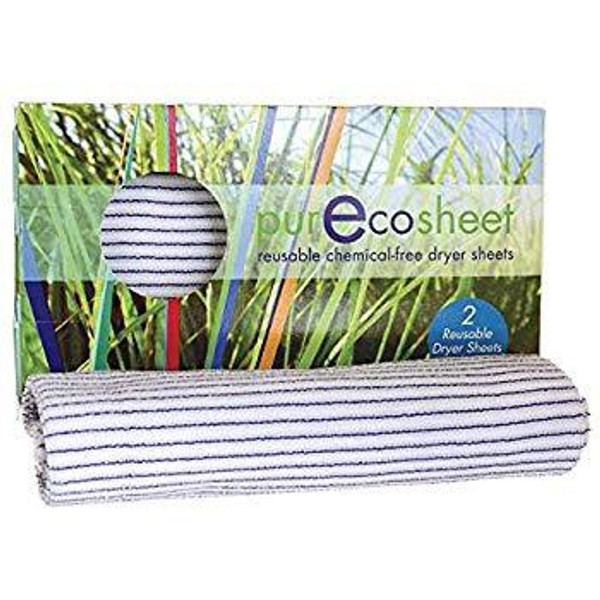 PurEcosheet has all the advantages of a traditional dryer sheet, with none of the chemicals. Our reusable dryer sheet eliminates static and keeps all of your fabrics fresh, soft and natural without leaving a chemical residue on your family's clothing.