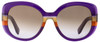 Salvatore Ferragamo Oval Sunglasses SF793S 506 Violet/Orange 793