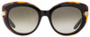 Salvatore Ferragamo Cateye Sunglasses SF813S 006 Black/Havana/Gold 813