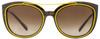 Versace Oval Sunglasses VE4336 108-13 Havana/Yellow 56mm 4336