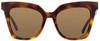MCM Square Sunglasses MCM644S 214 Havana 55mm 644