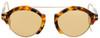 Tom Ford Oval Sunglasses TF631 Farrah-02 55E Tokyo Havana 49mm FT0631
