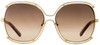 Chloe Square Sunglasses CE129S Isidora 784 Gold Brown 59mm 129