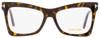 Tom Ford Butterfly Eyeglasses TF5457 052 Matte/Shiny Havana 52mm FT5457