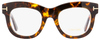 Tom Ford Oval Eyeglasses TF5493 052 Dark Havana 49mm FT5493