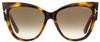 Tom Ford Cateye Sunglasses TF371 Anoushka 53F Havana 57mm FT0371