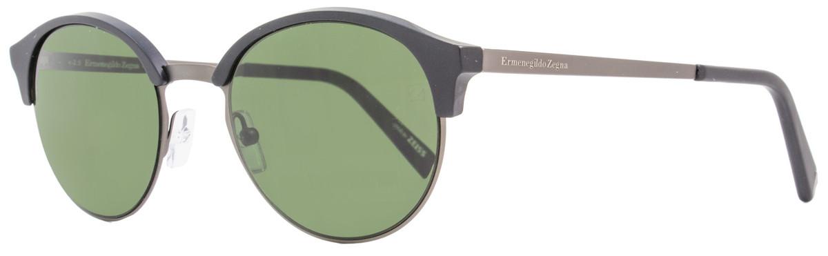 2451476f64ae Ermenegildo Zegna Round Sunglasses EZ0046 02N Matte Black ...