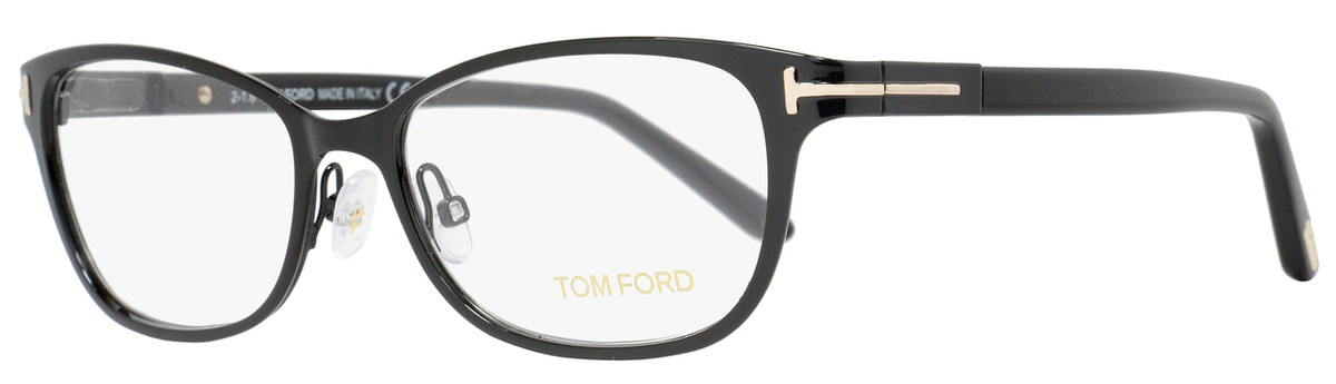 926053f3b0aac Your cart.  0.00. Check out Edit cart · Home   Eyeglasses   Tom Ford   Tom  Ford Rectangular Eyeglasses TF5282 005 Size  52mm Shiny Black FT5282