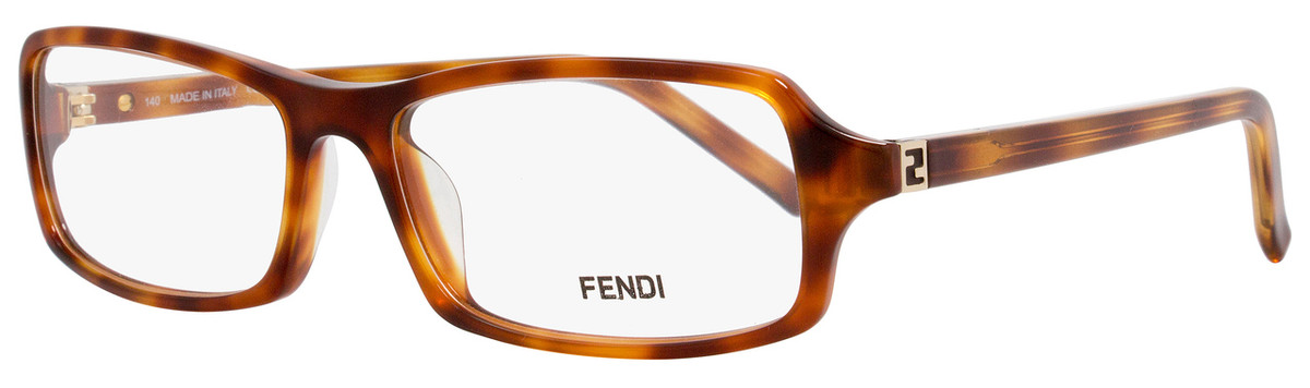 edd1889d520 Fendi Rectangular Eyeglasses F866 214 Size  54mm Light Havana 866