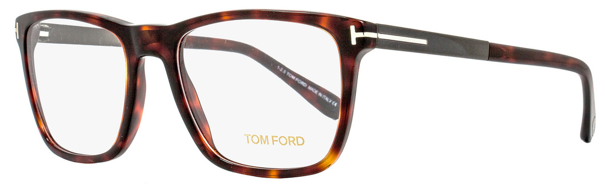 5cdcd18206a Your cart.  0.00. Check out Edit cart · Home   Eyeglasses   Tom Ford   Tom  Ford Square Eyeglasses TF5351 052 Size  56mm Red Havana Dark Ruthenium  FT5351