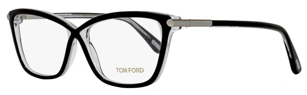f4af07ef769e9 Your cart.  0.00. Check out Edit cart · Home   Eyeglasses   Tom Ford   Tom  Ford Butterfly Eyeglasses TF5375 005 Size  53mm Black Crystal FT5375