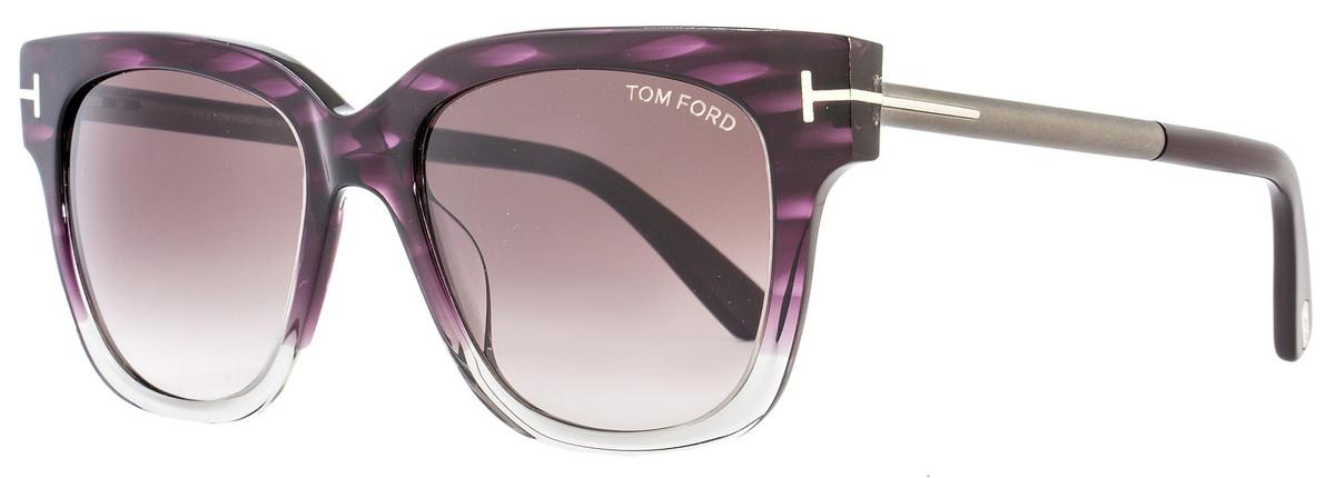 4e9608062ac Tom Ford Square Sunglasses TF436 Tracy 83T Violet Melange Gray ...