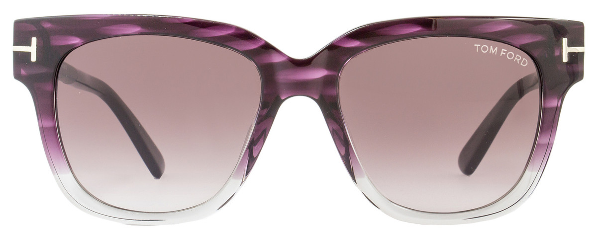 9be89f1c7e2b9 Tom Ford Square Sunglasses TF436 Tracy 83T Violet Melange Gray FT0436