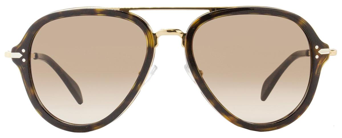2539dbd657c9 Celine Aviator Sunglasses CL41374S ANT9J Dark Havana Gold 41374