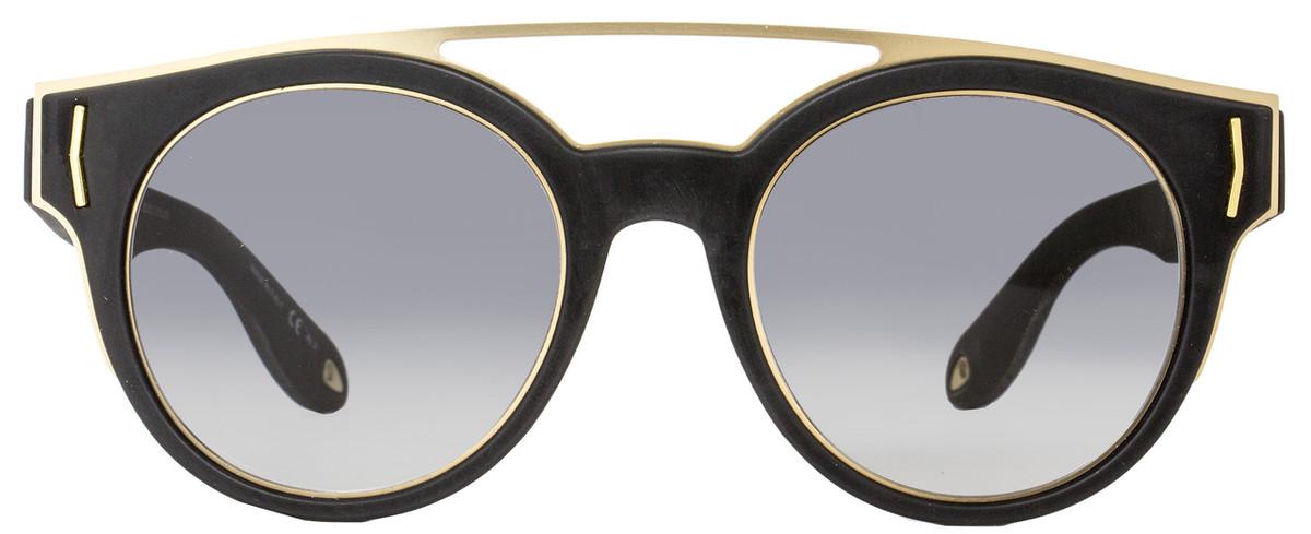 beb1ec17f4e Givenchy Round Sunglasses GV7017 S VEXVK Matte Black Gold 7017