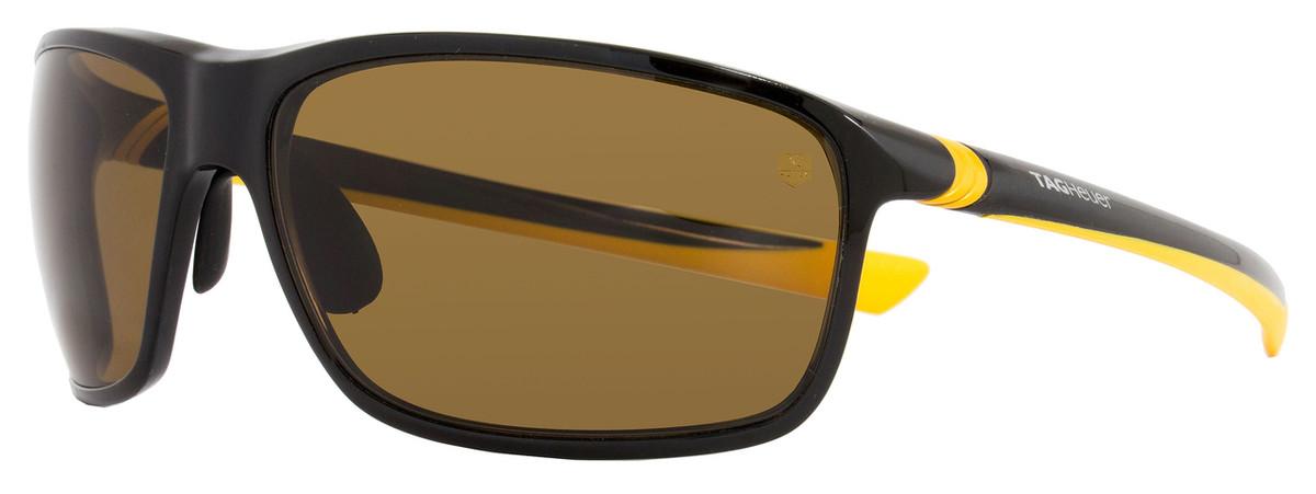 071d9dfd4d Tag Heuer Sport Sunglasses TH6023 27° 205 Shiny Black Mustard ...