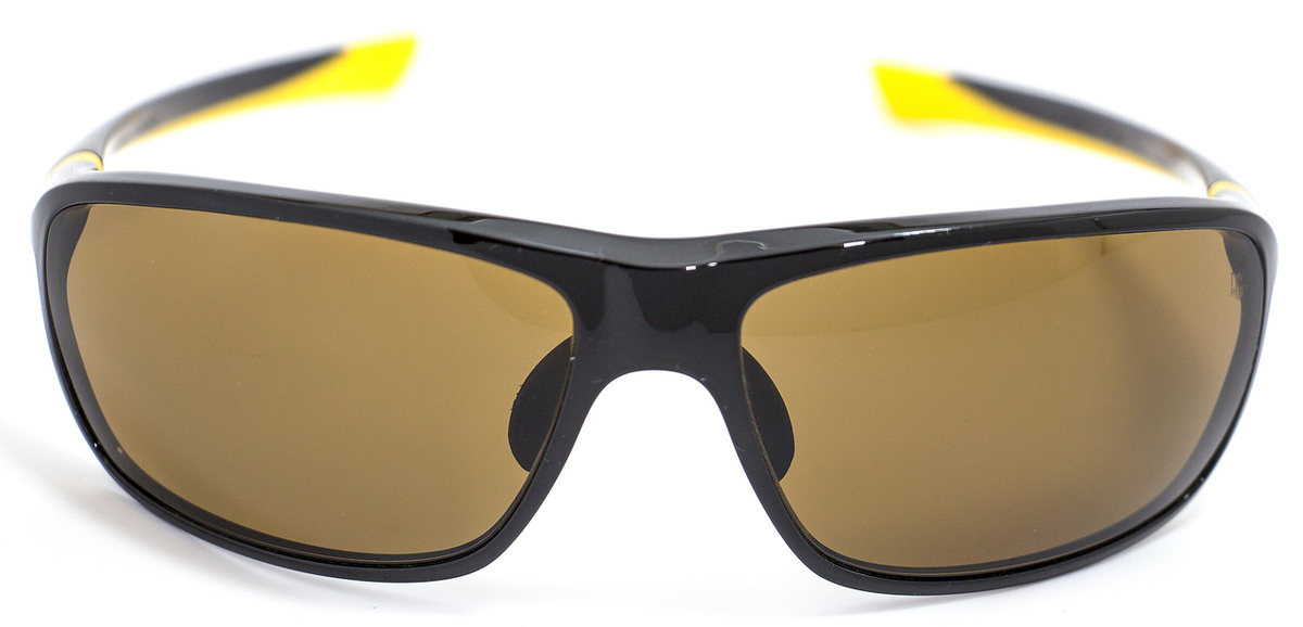 c08d772830 Tag Heuer Sport Sunglasses TH6023 27° 205 Shiny Black Mustard Polarized 6023