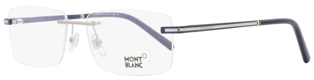 ad5e2dd2788 Montblanc Rimless Eyeglasses MB577F 090 Size  60mm Navy Blue ...